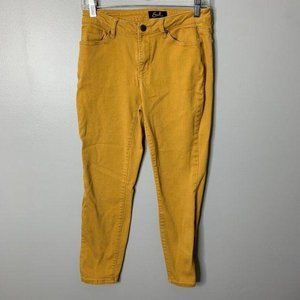 Earl Mustard Yellow Skinny Ankle Jeans